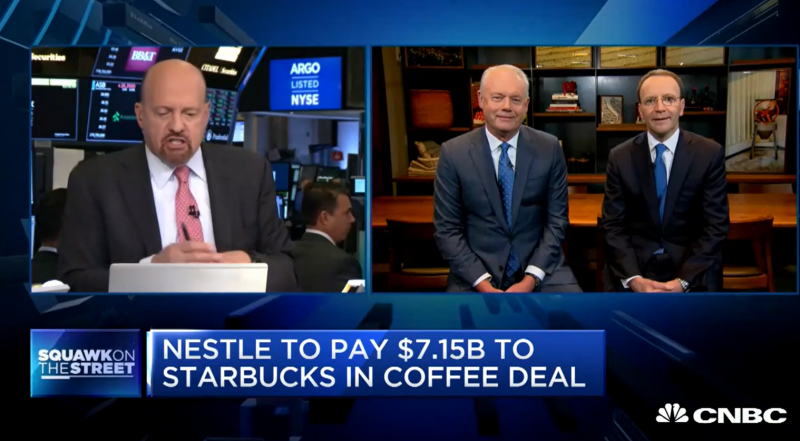 Nestle and Starbucks CEOs discuss global deal
