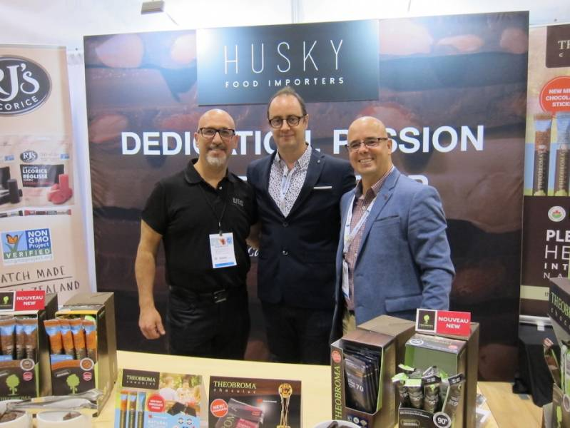 Nick Mattiace, Husky Food Importers, along with Jean-Rene Lemire and Sacha LaFlamme, Theobroma Chocolat