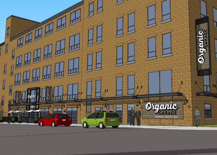 Organic Garage - artist's rendering of Liberty Village location