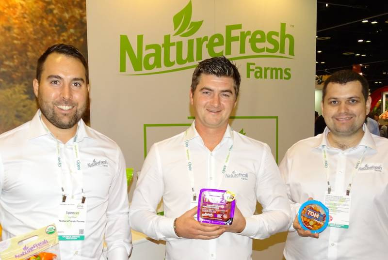 Left to right at NatureFresh Farms with Spencer Lightfoot,Matt Quiring and John Heide