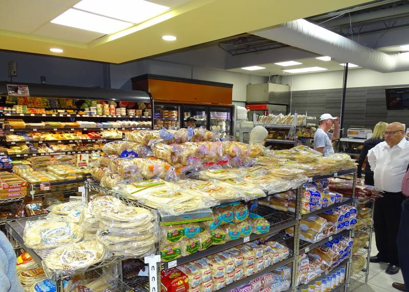 Enlarged bakery dairy and deli areas near the entrance display a growing emphasis on fresh.