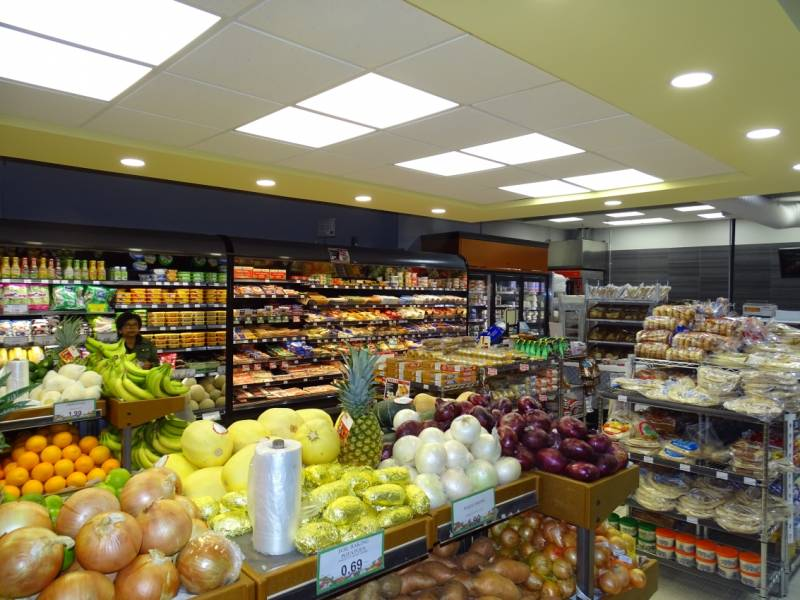 Peter Lombardi says the new store design has increased the cheese area by half and quadrupled the produce area. Frozen prepared items have also increased.