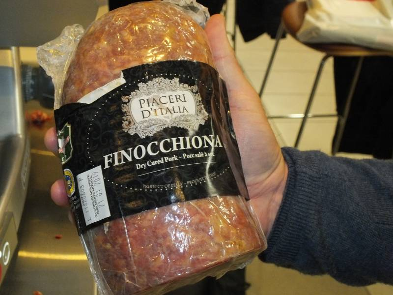 A dry cured pork from Italy imported by food distributor Jan K Overweel