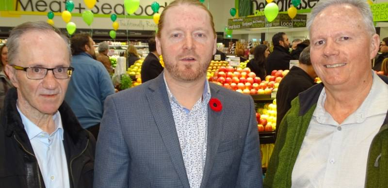Guy D'Addario of Nature's Emporium (left) with David Clark of CHFA and Randy Whitteker of Ontario Natural Food Company