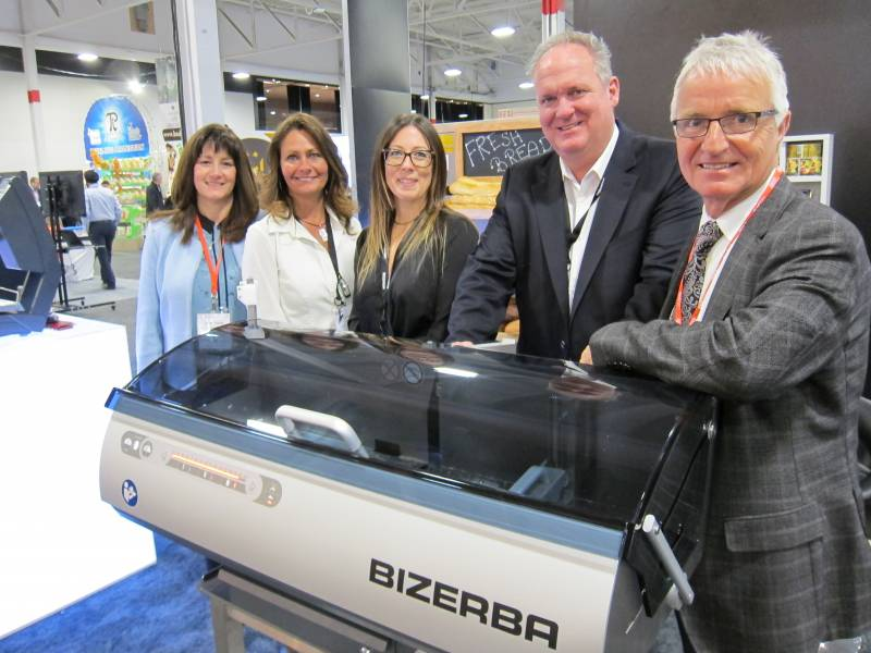 Ian Longley, second from right with the Bizerba team