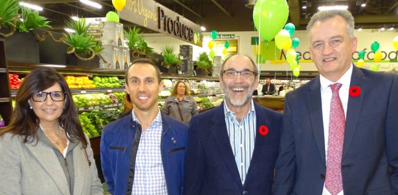 John Charleson of Nature's Emporium (right), Laura Younder of Spar Canada, Thomas Leek and Jim Slomka of Renew Life