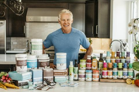 Co-founder Mark Sisson with Primal Kitchen products