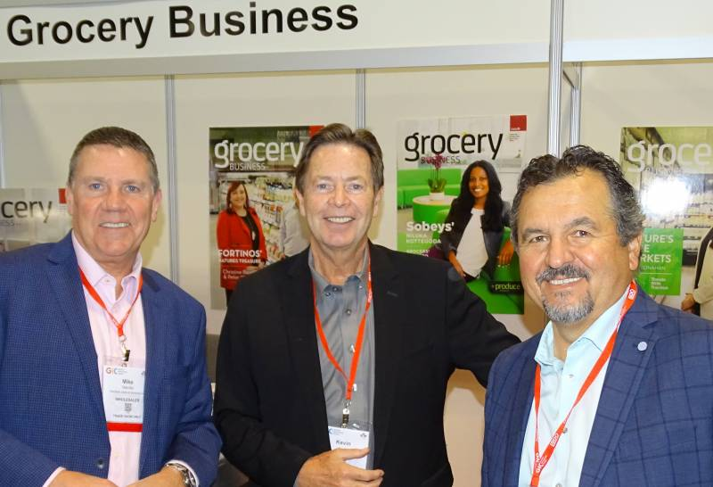 L-R: Michael Marotta, Kevin Smith of Grocery Business and George Tzogas