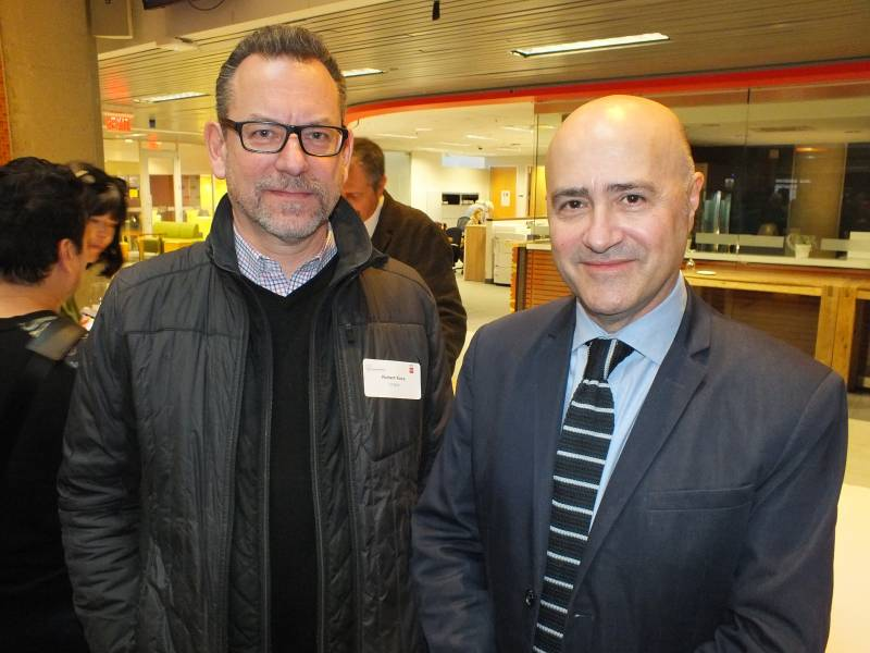 Rob Koss of Longo's with Piero Titone of the Italian Trade Commission