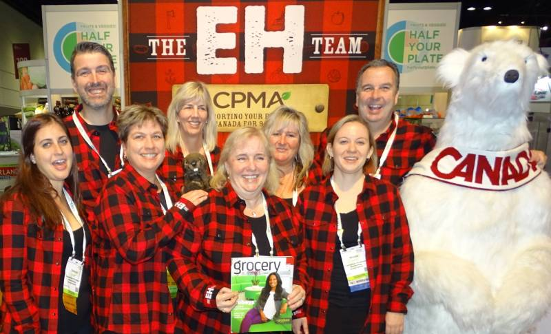 The CPMA team (left to right): Selena Karkash, Ron Lemaire, Sue Lewis, Jennifer Oakley, Jane Proctor, Lyse McClelland, Nicole Jeffrey, Les Mallard (CPMA Chair) and  Bowen the Bear