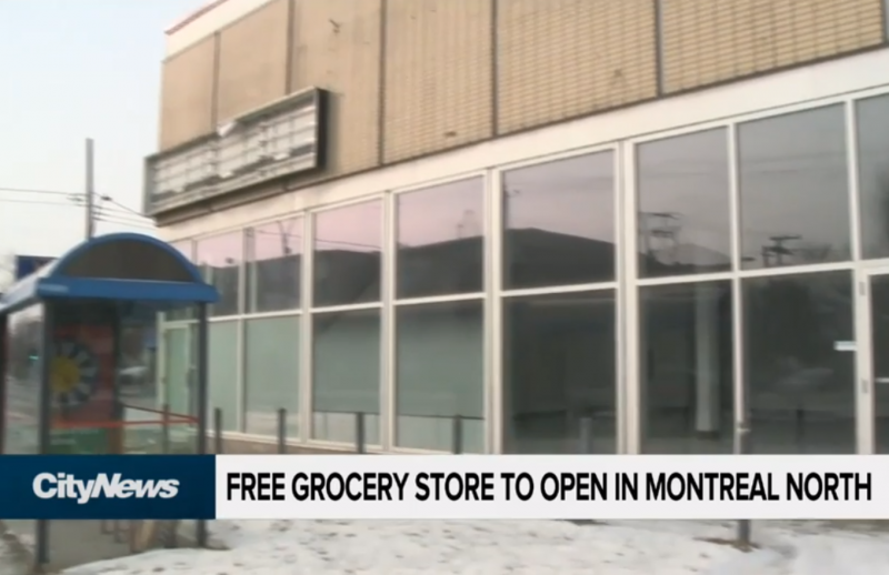 Free grocery store in Montreal North