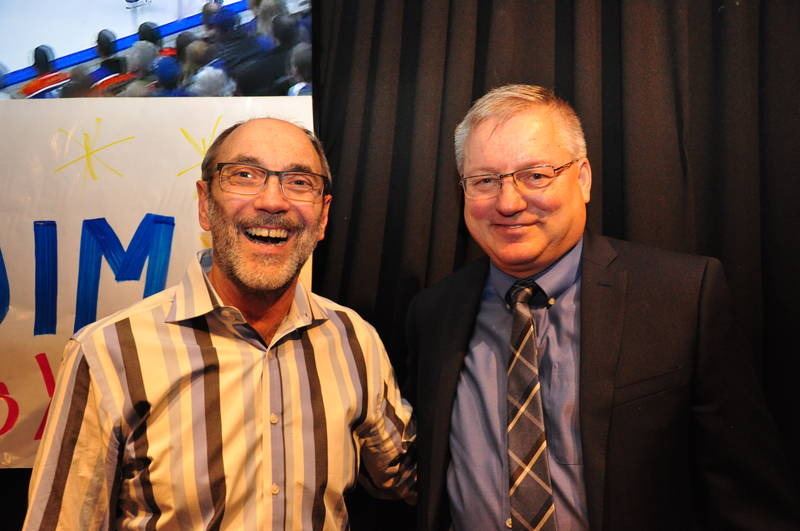 Jim Slomka with Denis Gendron, United Grocers Inc.