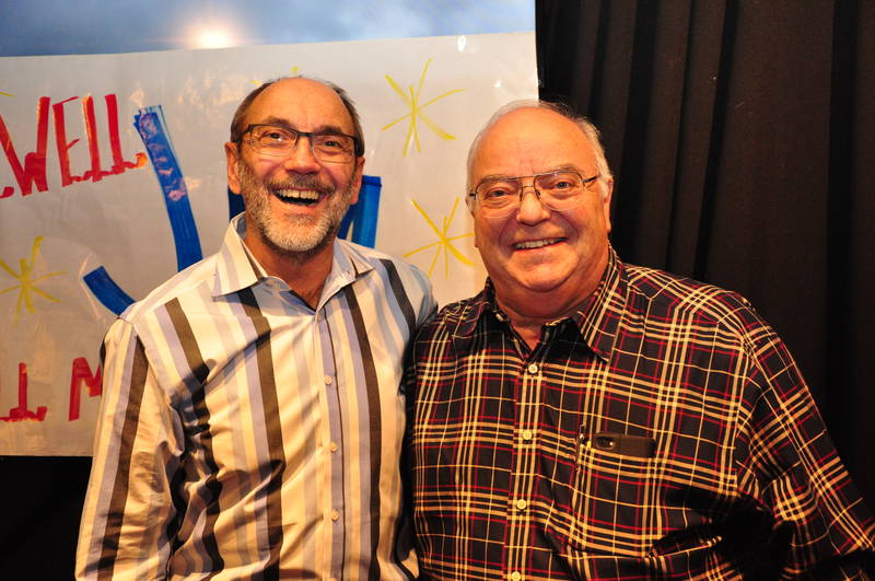 Jim Slomks with Bill Conning, Clorox Canada