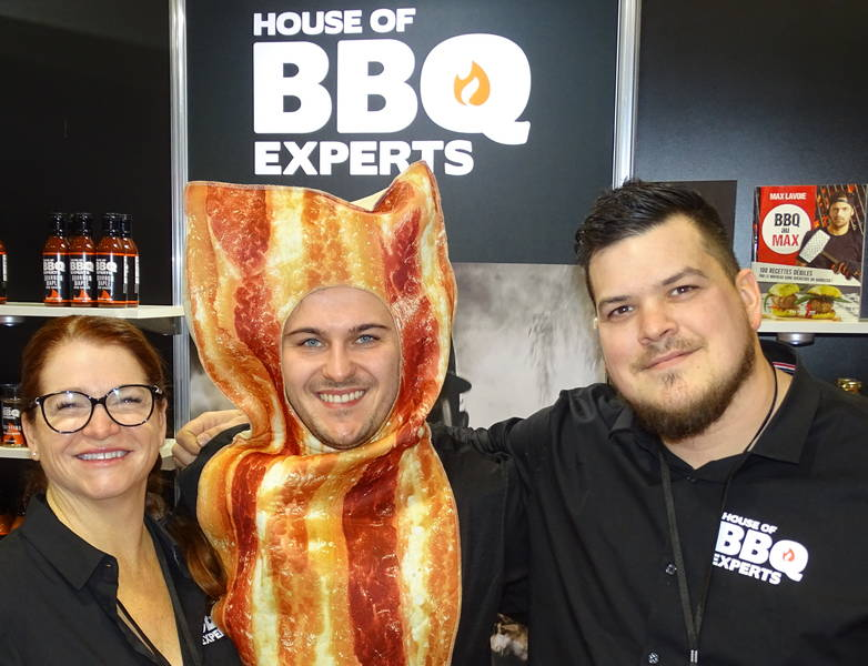 Lyn Guimond, JP Lavoie and Alex Turcotte at House of BBQ Experts