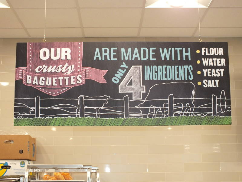 Signage throughout the store informs shoppers about products, ingredients and sourcing.
