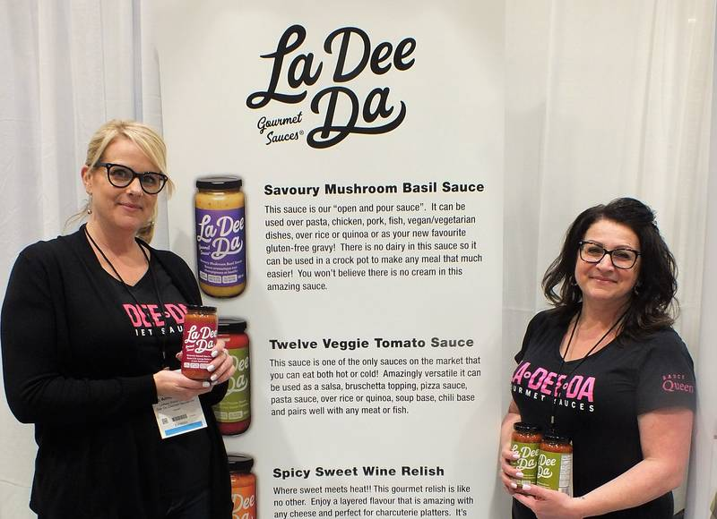 Jo Anne Torrance and Mary Marino, co-owners La Dee Da Gourmet Sauces
