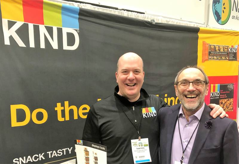 Kind Bars' Todd Kelly with Jim Slomka, Grocery Business