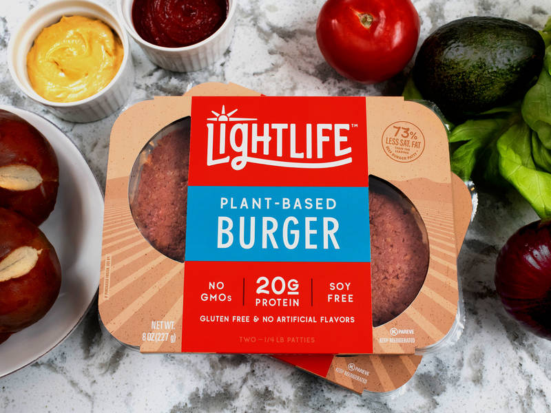 Lightlife plant-based burgers