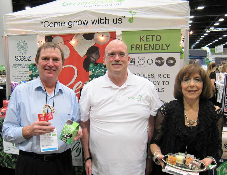 Mike Seely, Seely Mint, Jim Kavanagh, Brandseed Marketing and Susan Carp, Miracle Noodle