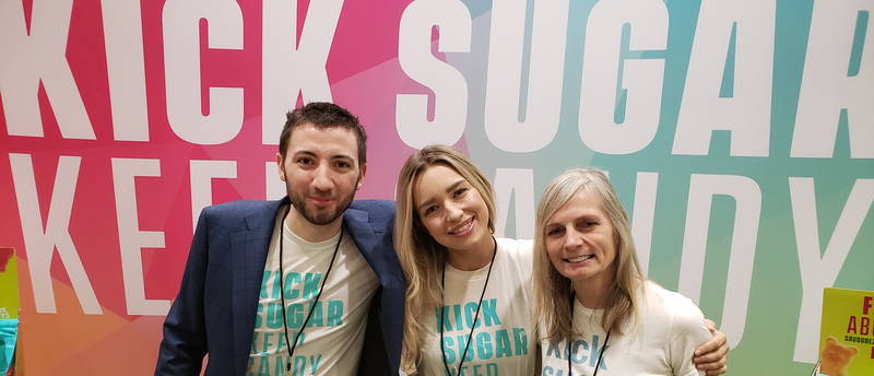 The Smart Sweets team: Michael Pelkola, Koreann Webster and Cindy Bokitch