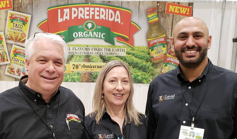 Trent Otto of La Preferida (l) with Heidi Blecker and Jimmy Vaid of iLevel Management