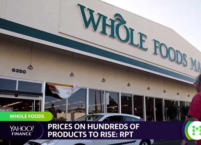 Whole Foods prices to rise