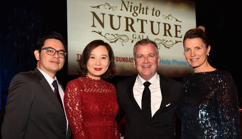William Chow, Catherine Hou, Chinese Cuisine & Hospitality Association of Canada, Shaun McKenna, Executive Director, Grocery Foundation and Liesbeth McKenna