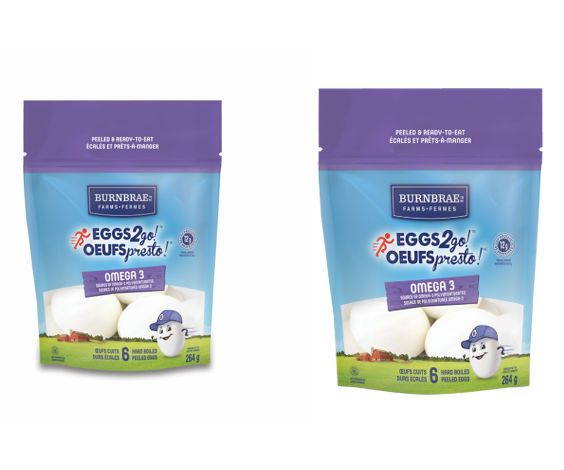 Best Convenience Product: Burnbrae's Eggs2go! Omega-3 6pk Resealable Pouch Hard Boiled & Peeled Eggs