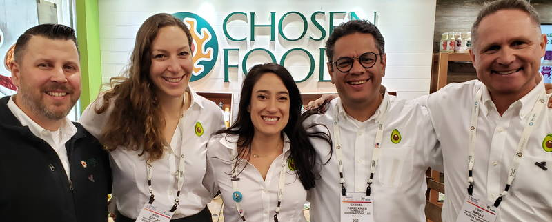 Chosen Foods team from left: Thomas Huls; Keri Kaplan; Robin Burgin; Gabriel Perez Krieb; Cory Baran