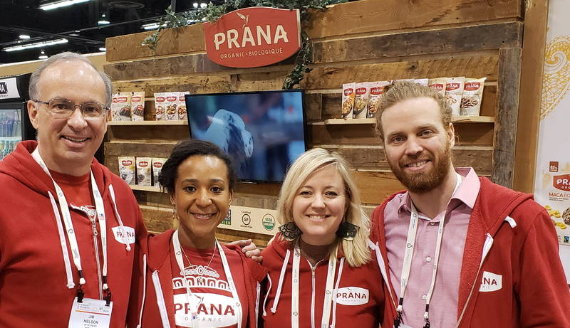 (From left) With the Prana team: Jim Nelson; Iara Binta Lima Machado; Sabrina Roy and Derek Brawley