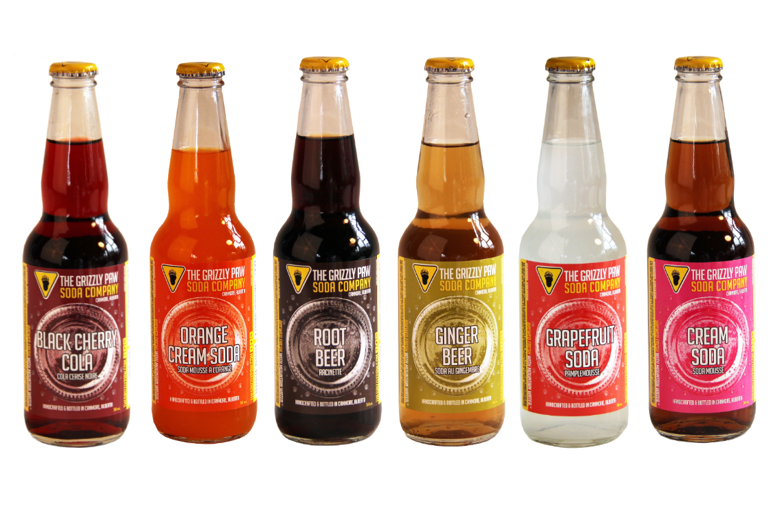 Best Beverage: Grizzly Paw Soda Company's Ginger Beer, Root Beer, Grapefruit, Orange Cream Soda, Cream Soda and Black Cherry Cola
