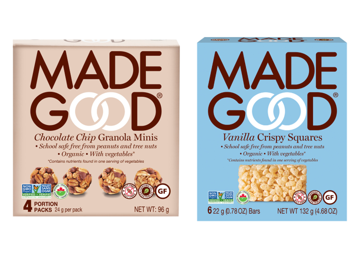 Best Snack Product: MadeGood Foods' Granola Bites and Granola Bars (I-D Foods)