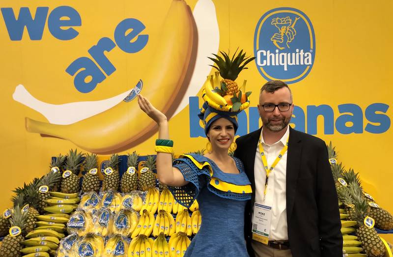 Mike Vesely with the Chiquita Banana Ambassador