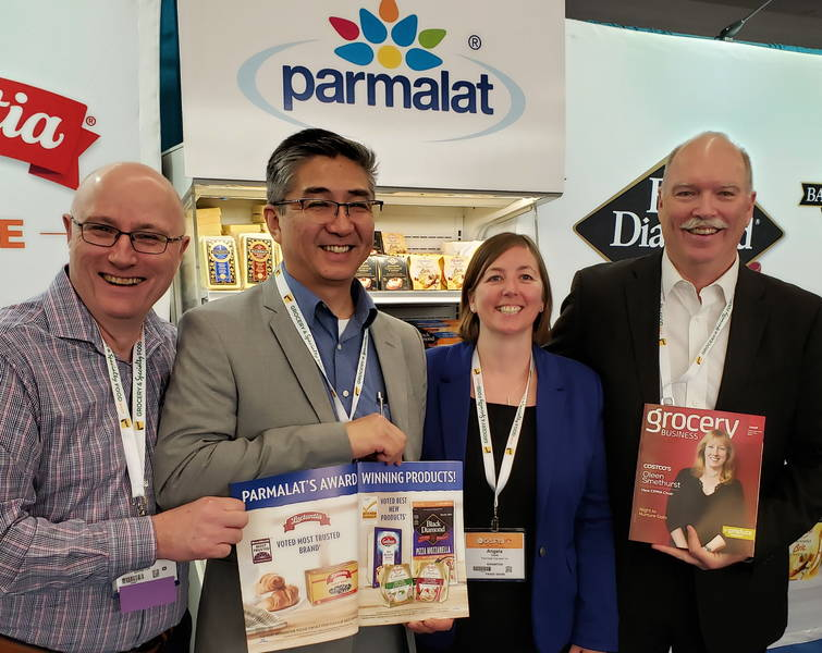 Parmalat team (from left): John St Jean, Tony Marr, Angela Cove and Keith Odger