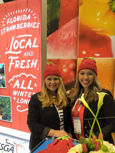 Sue Harrell and Tiffany Dale, Florida Strawberries Growers Association