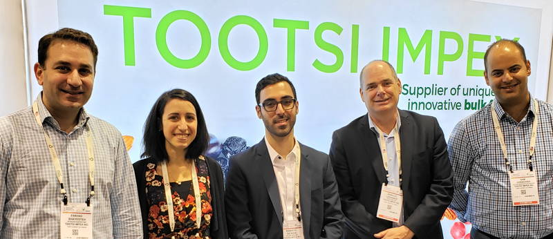 Tootsi Impex team from left: Farhad Shayesteh; Giada Simone; Roberto DeRose; Jean-Luc Lachance and Sam Chencheh