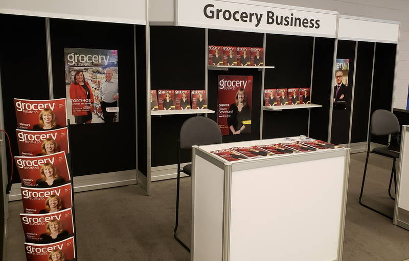 Show-ready at the Grocery Business booth