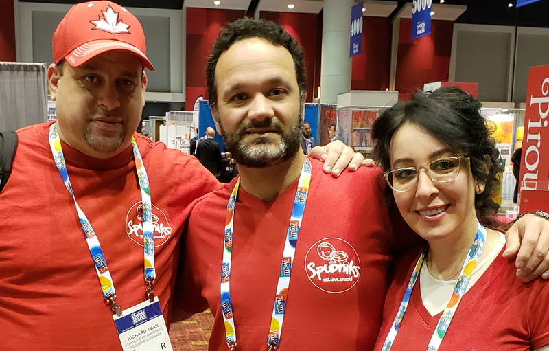 The Spudniks team (from left) Richard Amar with Jessy and Michele Revivo