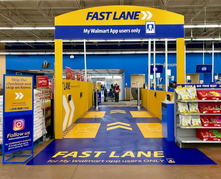 Fast Lane checkout. Photo Walmart Canada