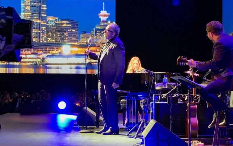 Elvis Costello and Diana Krall entertained guests at the Black Tie dinner during the Global Summit