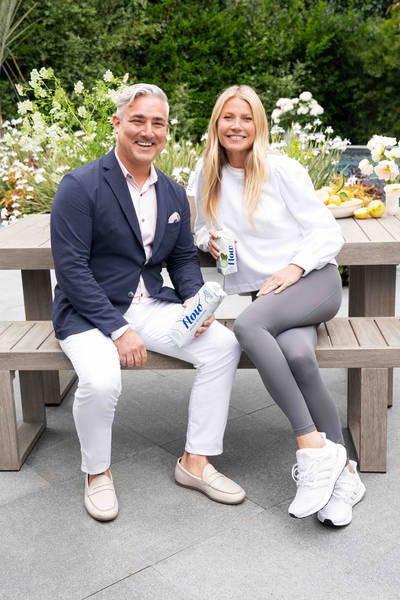 Flow CEO Nicholas Reichenbach with Goop CEO Gwyneth Paltrow