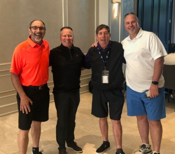 Jim Slomka, Chris Powell, Tree of Life, Jim Hunter, longtime member of the Food and Allied Golf Committee and Glen Smith, Advantage Solutions