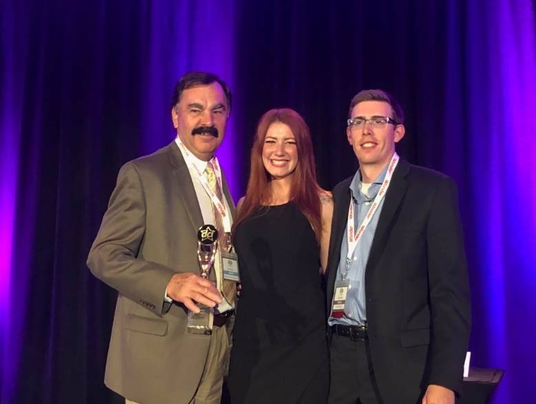 Partner of the Year Chapmans Ice Cream  Partner of the Year: Chapman's Ice Cream, Bob Brema, William M. Dunne & Associates Ltd. accepting on behalf of Chapman's Ice Cream, Melissa Lynne-Schaffer, DCI presenter and Nigel Oliver, Vince's Market & DCI Treasurer