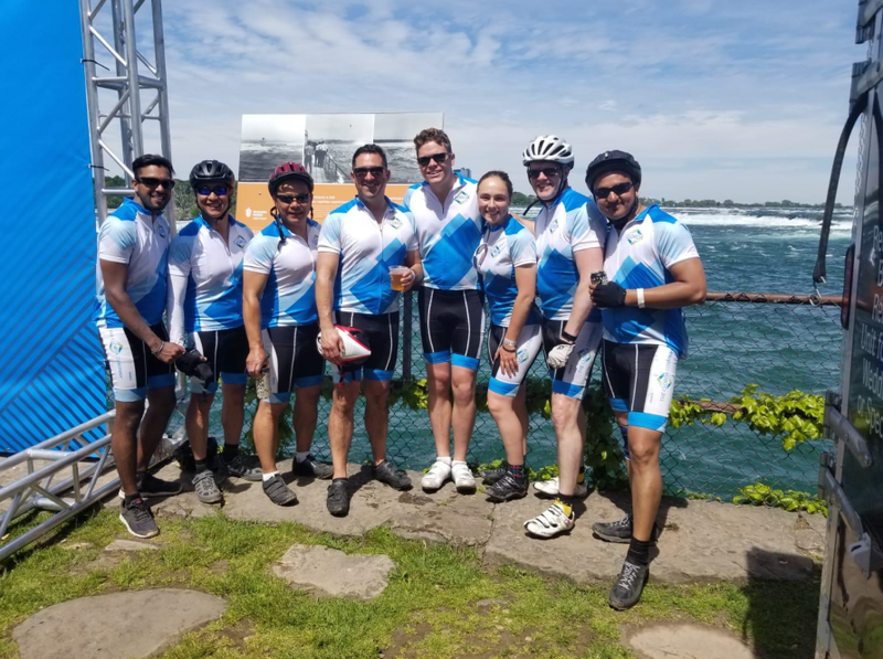 Ride to Conquer Cancer - Clorox Team (from left) Dane Poinen, Ray Viloria, Shawn Huynh, Craig Bliss, Colin Marotta, Amy Martin, Peter Wright and Ishwar Garg raised $23,902.