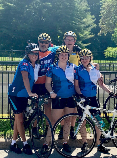 Ride to Conquer Cancer - Kevin Hayes of UGI and Al Tyreman (back row) and Margie Perotta and Mary Handyside raised $20,000.