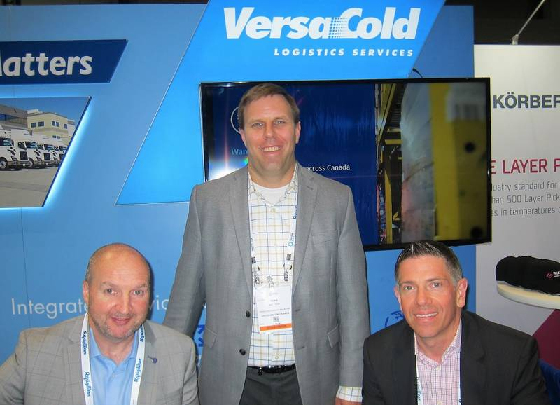 Steve Brennan, Brian Dove and Derek Ruel at the VersaCold booth at the co located Global Cold Chain Expo