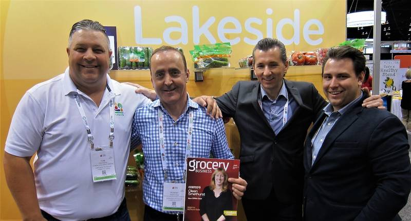 Tom Coufal, Robert Najm, Chris Cervani and Justin Henkel of Lakeside Produce