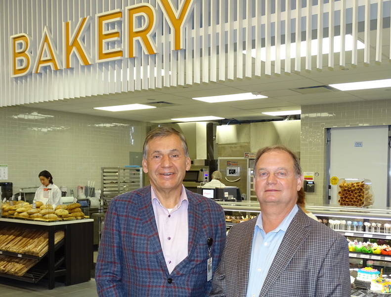 In the bakery with Longo's executives Michael Forgione and Pat Pessotto