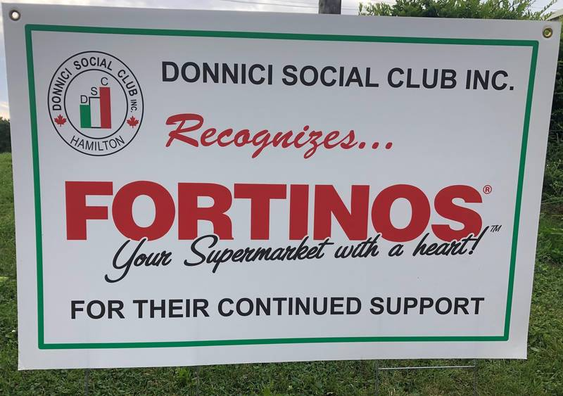 Donnici Social Club acknowledges Fortinos' support