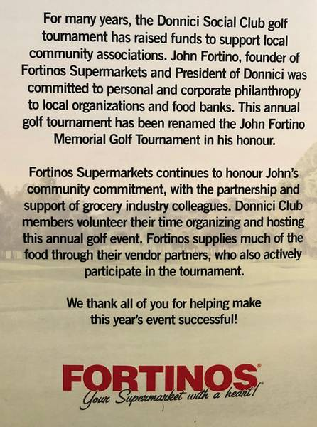 The tournament was renamed in honour of John Fortino, who passed away in 2011